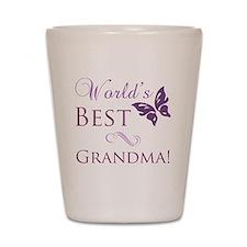 Butterfly_Grandma Shot Glass