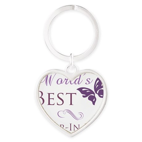 Butterfly_Sister-In-Law Heart Keychain