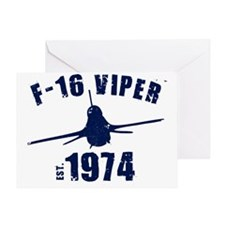 varsity-f16-74-navy Greeting Card