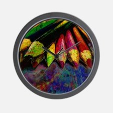 geo_lights_Colored_pencils copy Wall Clock