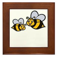Big Bro Bee dk Framed Tile