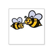 "Big Bro Bee dk Square Sticker 3"" x 3"""