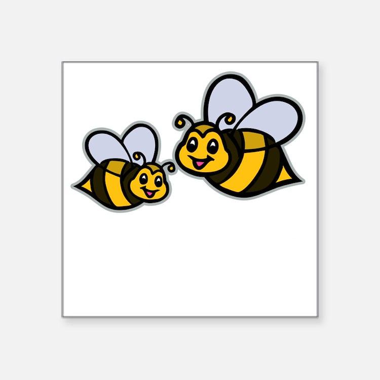 "Big Bro Bee dk Square Sticker 3"" x 3"""