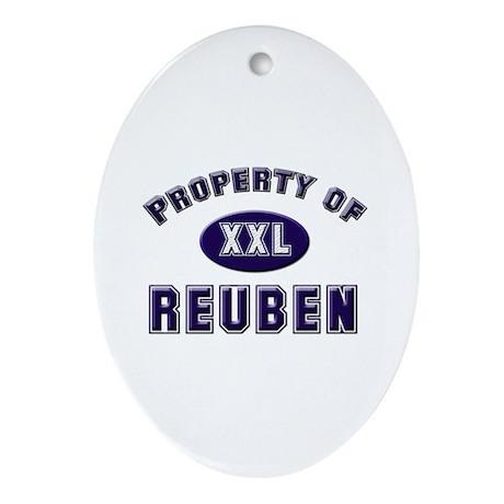 Property of reuben Oval Ornament