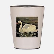 Tile Swan (Cream) x 2 Shot Glass