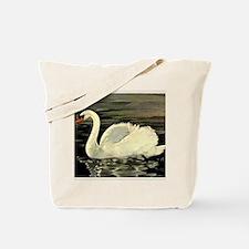Tile Swan (Cream) x 2 Tote Bag