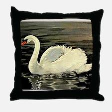Tile Swan (Cream) x 2 Throw Pillow