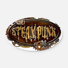 steampunk Oval Car Magnet