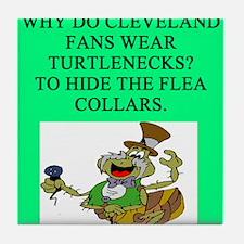 cleveland sports fans Tile Coaster