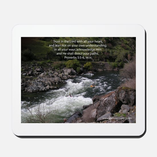 Trust in the Lord Proverbs Kayak Mousepad