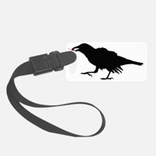 Crow with Cherry Luggage Tag