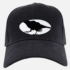 Crow with Cherry Baseball Hat