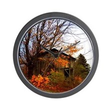 Autumn Shed Wall Clock
