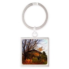 Autumn Shed Square Keychain
