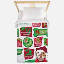 12 Dogs of Christmas Twin Duvet