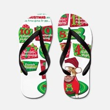 12 Dogs of Christmas Flip Flops