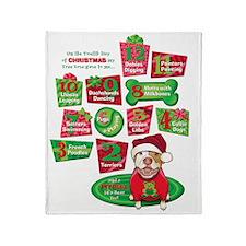 12 Dogs of Christmas Throw Blanket