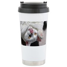 silly_cat_card Travel Coffee Mug