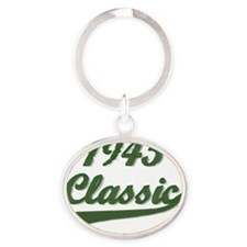 Classic Green 1945 Oval Keychain