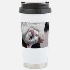 silly_cat_Lg_framed Travel Mug