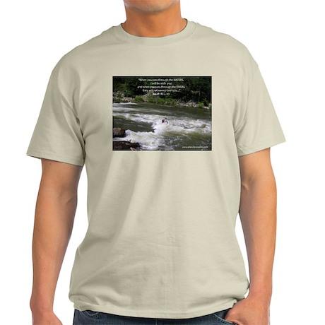 Isaiah 43:2 Ash Grey T-Shirt