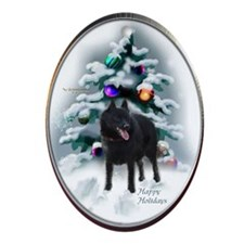 schipperkechristmascard Oval Ornament