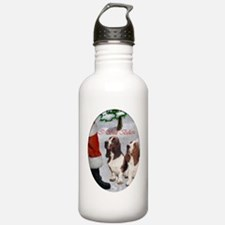 basset hounds christma Water Bottle