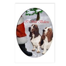 basset hounds christmas t Postcards (Package of 8)