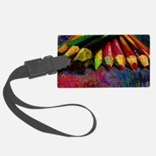 geo_lights_Colored_pencils copy Luggage Tag