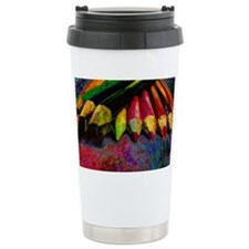 geo_lights_Colored_pencils copy Travel Mug