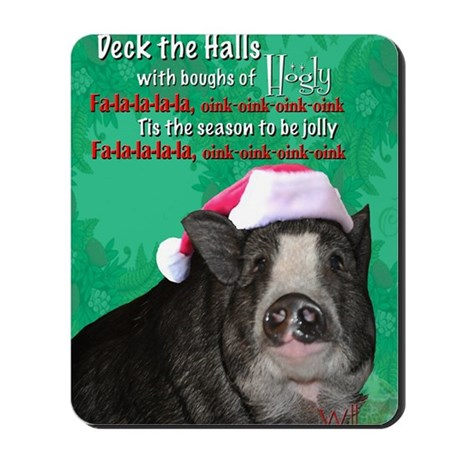 deck-the-halls Mousepad