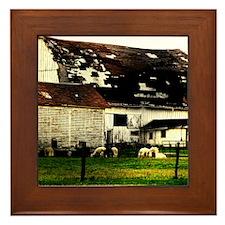 Down on the Farm Framed Tile