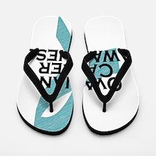 ovarian cancer awarness ribbon Flip Flops