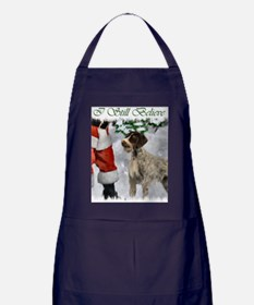 german wirehaired pointer christmas a Apron (dark)