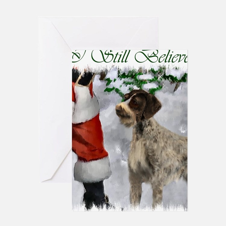 german wirehaired pointer christmas  Greeting Card