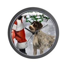 german wirehaired pointer christmas app Wall Clock