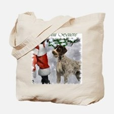 german wirehaired pointer christmas appar Tote Bag