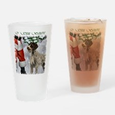 german wirehaired pointer christmas Drinking Glass