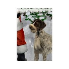 german wirehaired pointer christm Rectangle Magnet