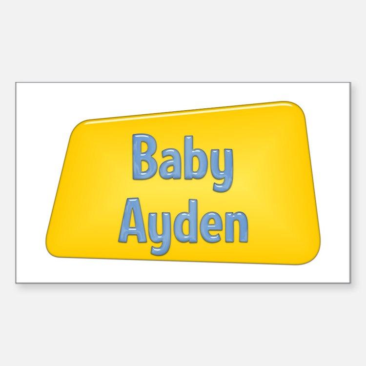 Baby Ayden Rectangle Decal