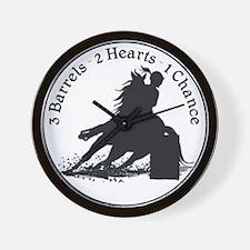 3 barrels 2 hearts Wall Clock