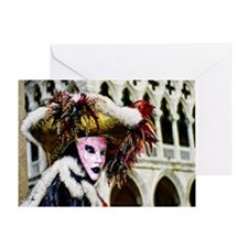 carnival_mask f  by Blake Robson cop Greeting Card