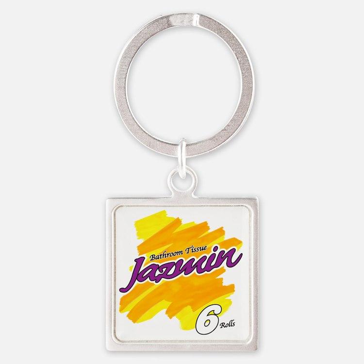 Jazmin Square Keychain