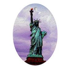 statue_of_liberty copy Oval Ornament