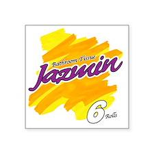 "Jazmin Square Sticker 3"" x 3"""