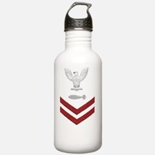 Navy-Rank-TM2-Embroide Water Bottle