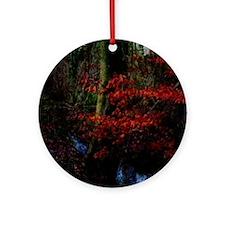 woodland_stream Round Ornament