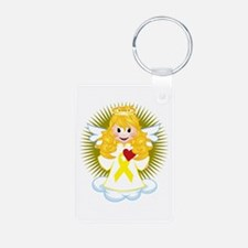 Angel-Watching-Over-Me-Yel Keychains