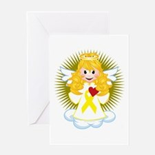 Angel-Watching-Over-Me-Yellow-Ribbon Greeting Card