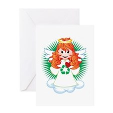 Angel-Watching-Over-Me-Recycling-blk Greeting Card